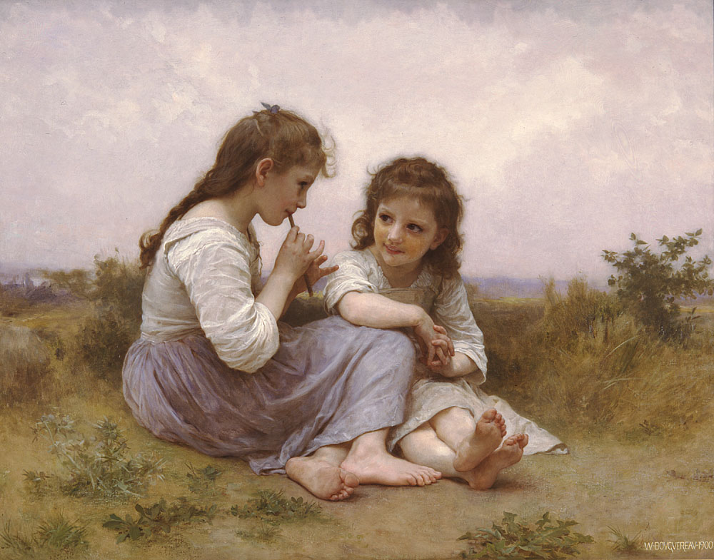 William-Adolphe Bouguereau - Idylle enfantine