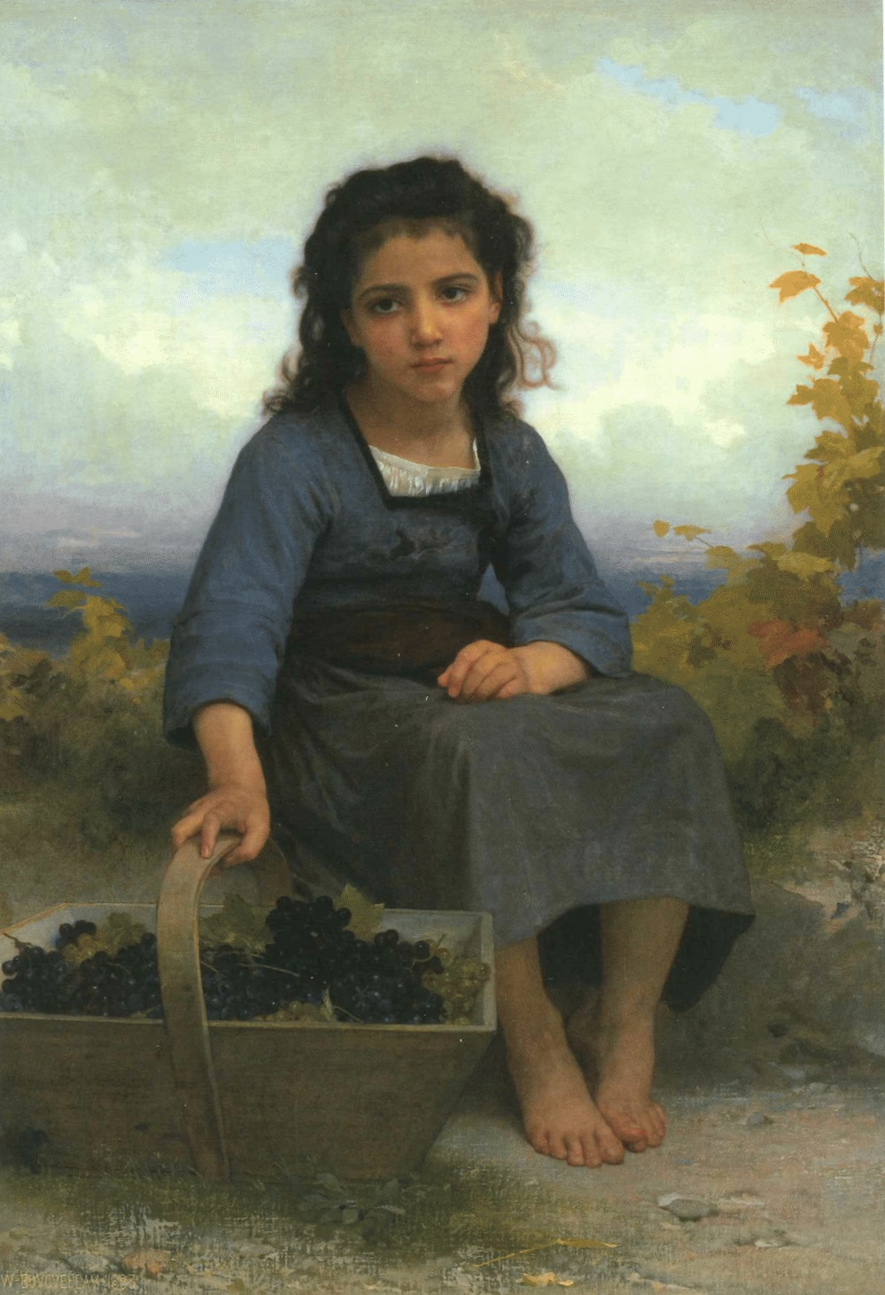 William-Adolphe Bouguereau - Petite vendangeuse